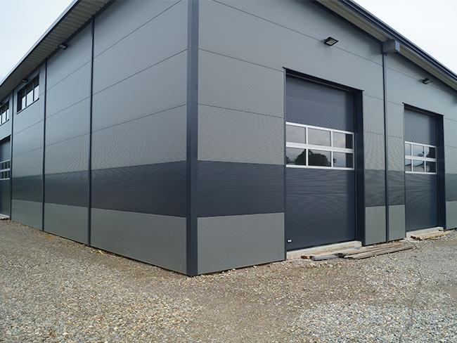 Wandverkleidung Garage : Wandverkleidung für das gebäude dausch hallen